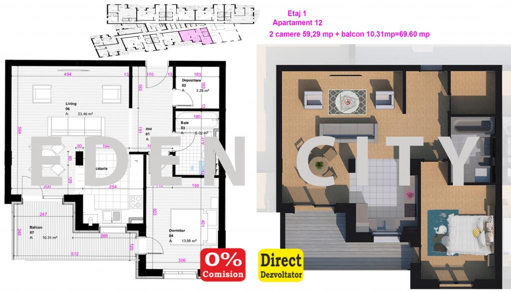 etaj 1 ap 12 planuri site
